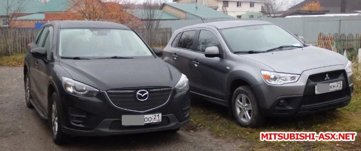 Фото автомобилей владельцев - PA192341_Mazda CX-5&Mitsubishi ASX.jpg