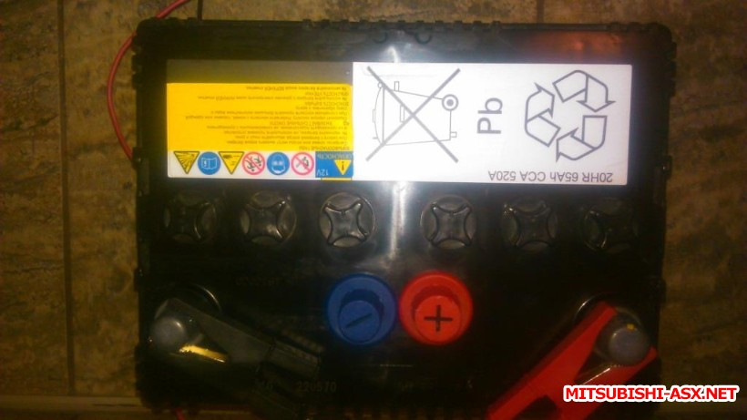 Аккумулятор на ASX - 121212.JPG