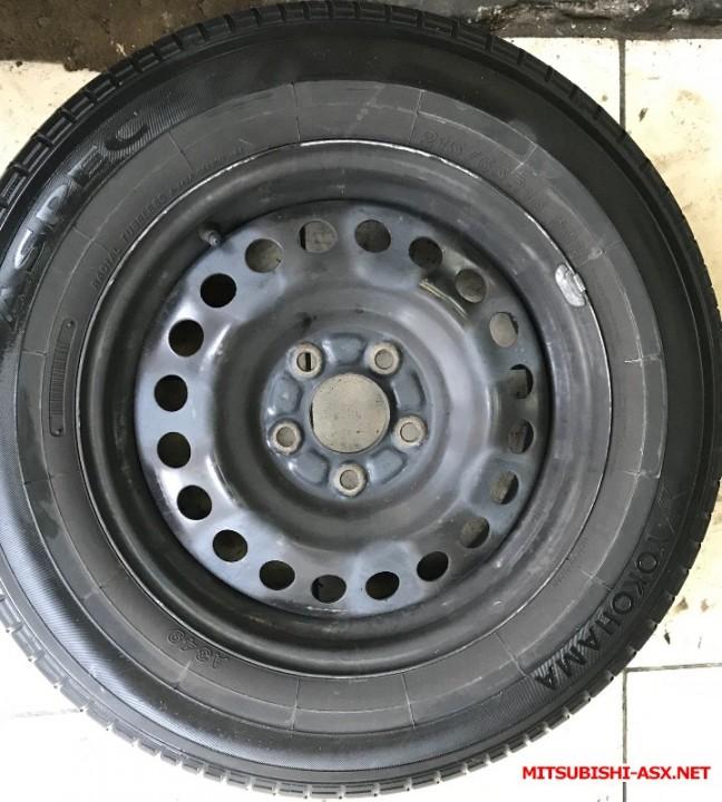 Продам родные колеса штамповка, летняя Yokohama Aspec r16 - BCAC0B9F-6D35-4974-85F6-67446C6DA2C4.jpeg