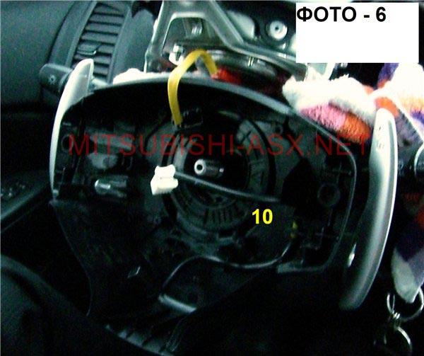 Установка кнопок на руле Mitsubishi ASX