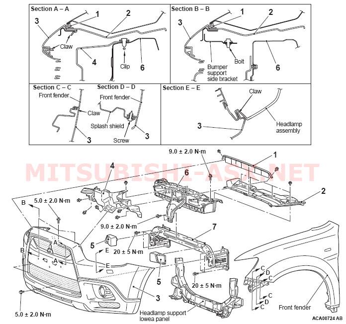 Как снять бампер у Mitsubishi ASX