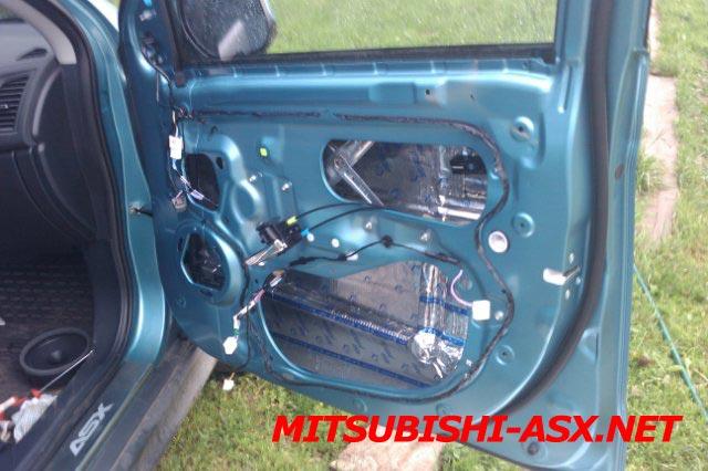 Шумоизоляция дверей Mitsubishi ASX