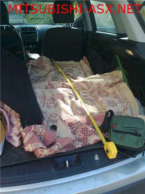 Габариты багажника Mitsubishi ASX