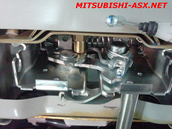 Замок капота своими руками Mitsubishi ASX