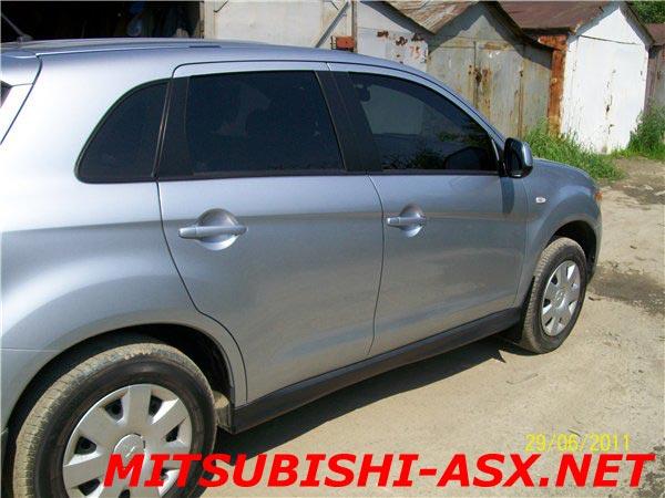 Установка брызговиков на Mitsubishi ASX