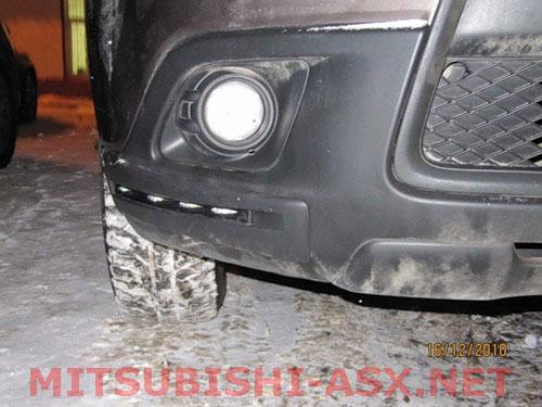 Установка DRL LED Mitsubishi ASX
