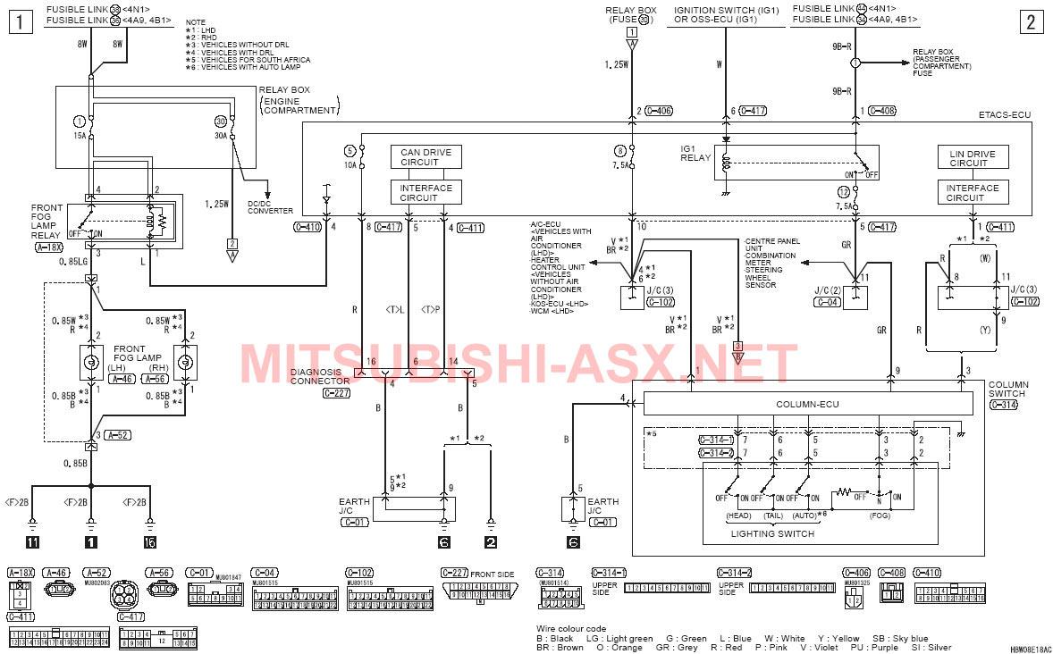 Электрическая схема асх