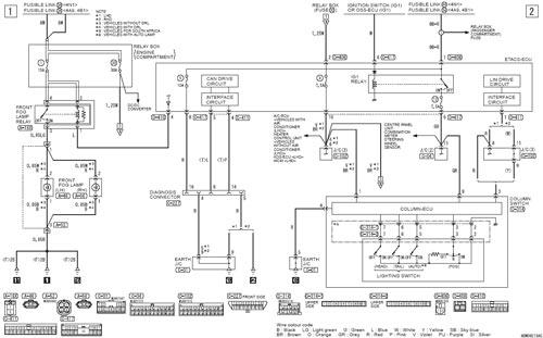 Схема ПТФ разъем A-52 Mitsubishi ASX