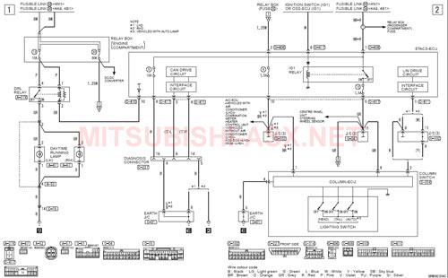 Схема DRL Mitsubishi ASX