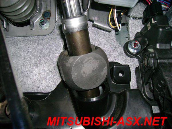 Другой способ установки замка Гарант на руль Mitsubishi ASX