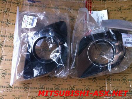 Установка хром-окантовки решетки радиатора Mitsubishi ASX