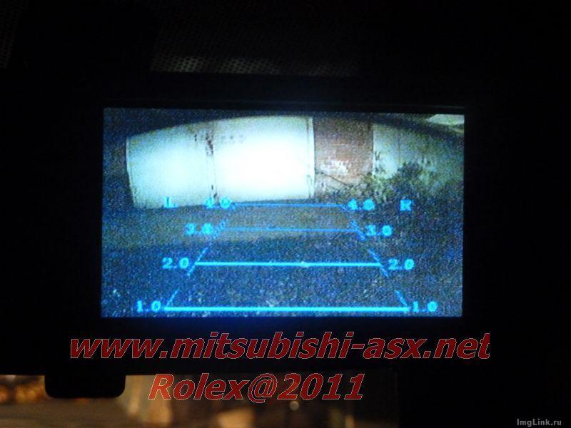Камера заднего вида и монитор в зеркале заднего вида  - установка Mitsubishi ASX