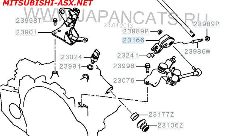 Затрудненное переключение передач Mitsubishi ASX