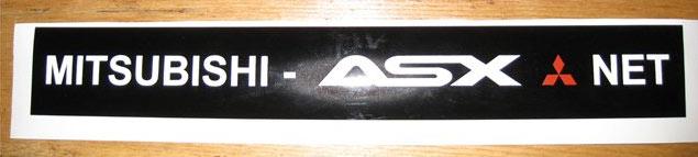 Наклейка на багажник Mitsubishi ASX Клуб