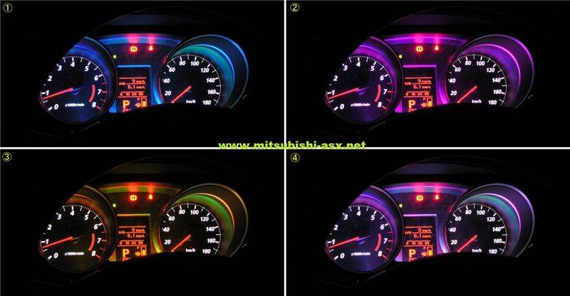 Установка светодиодной подсветки приборов для ASX