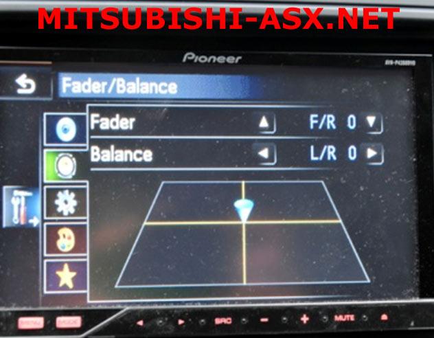 Регулировка аудио и видеопараметров ASX