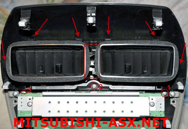 Воздуховоды в центральной рамке разборка Mitsubishi ASX