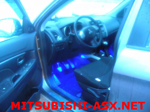 Подсветка педалей Мицубиси ASX