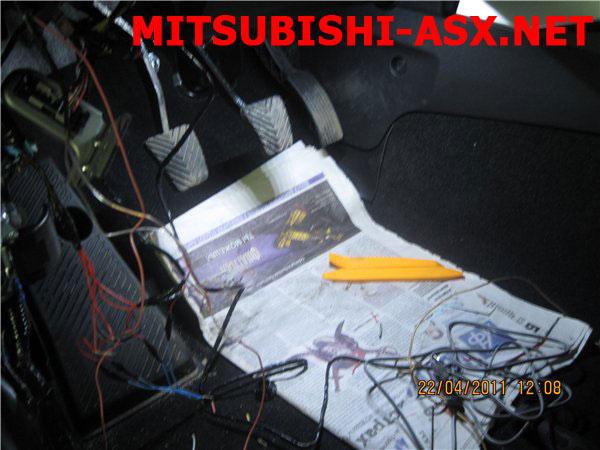 Кнопка сетодиодная подсветка салона Митсубиси ASX