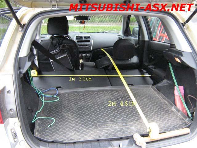 Габариты багажника Мицубиси АСХ