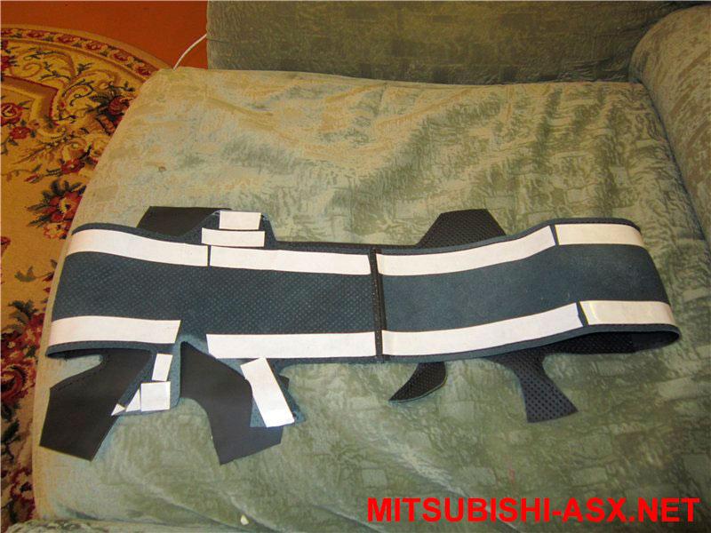 Кожаный руль Мицубиси АСХ своими руками