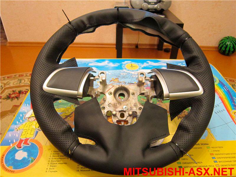 Кожаный руль Мицубиси ASX своими руками