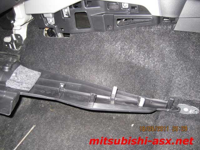 Снятие обшивки салона Mitsubishi ASX
