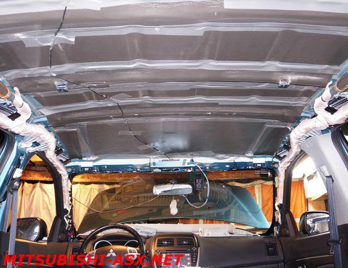 Шумоизоляция крыши Mitsubishi ASX