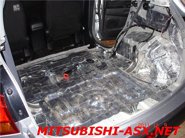 Шумоизоляция багажника и задних сидений Mitsubishi ASX