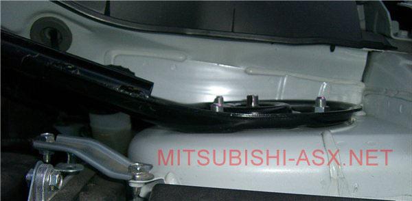 Установка растяжки стоек на Mitsubishi ASX