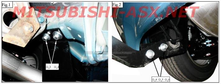 Защита бампера Mitsubishi ASX