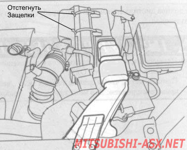 Замена фильтра на Mitsubishi ASX