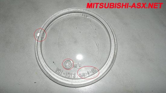 Замена ПТФ стекла Mitsubishi ASX