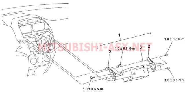 Как снять рамку и заменить штатную музыку на Mitsubishi ASX S01