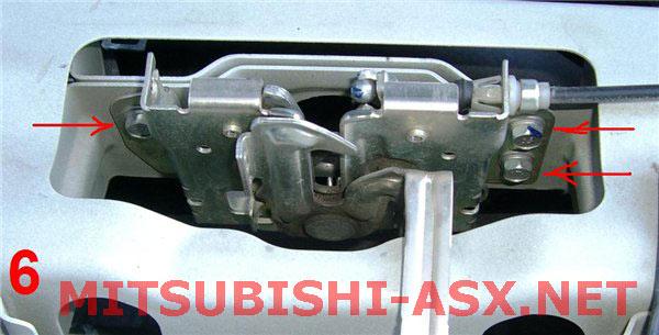 Установка оригинального замка капота с датчиком открытия Mitsubishi ASX